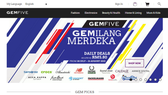 GEMFIVE - Front Page