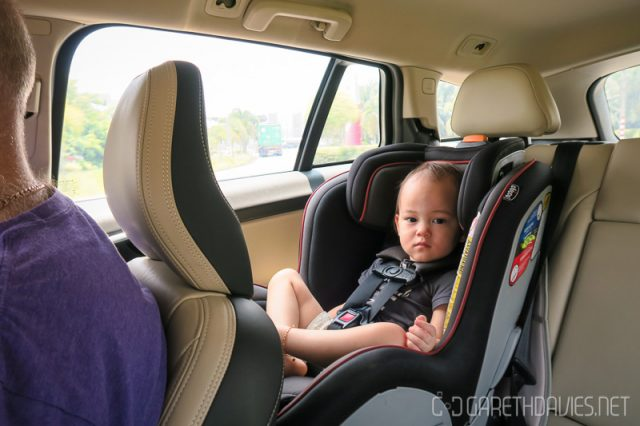 Liam in the Carseat