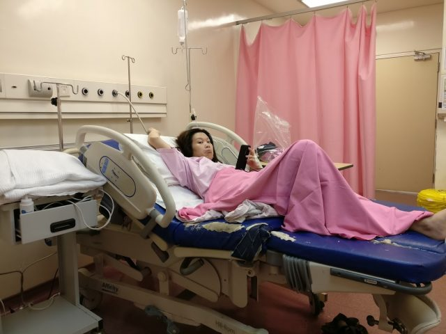 Kim in Delivery Room