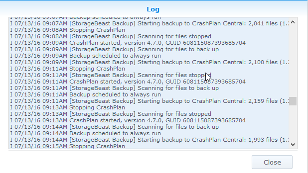 CrashPlan on Synology DS412+