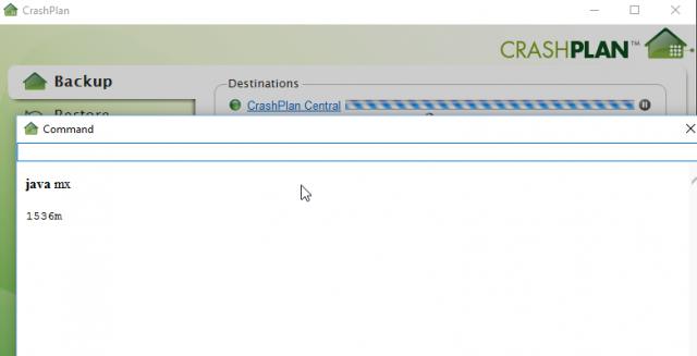 CrashPlan Java Heap Size on Synology