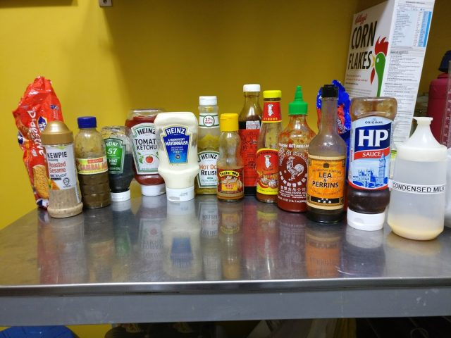 Condiments with Sugar