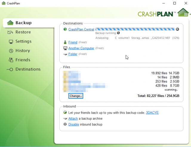 CrashPlan on Synology DS412+
