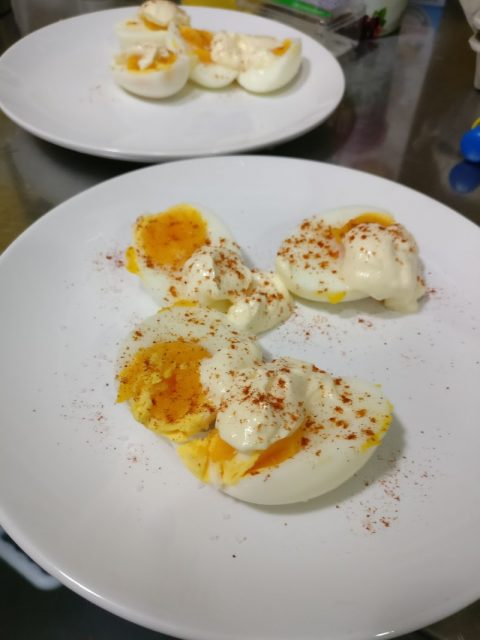 Eggs with home-made mayo