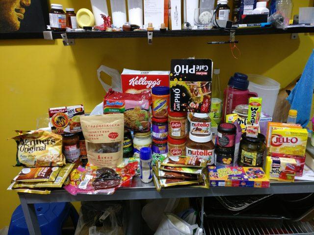Sugar laden foods