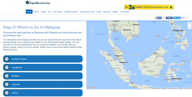 Where To Go In Malaysia - Interactive Travel Map