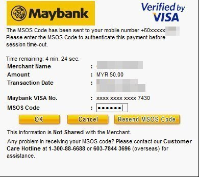 Maybank Verified by Visa