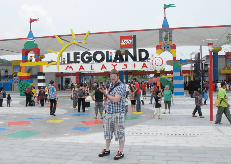 Badly dressed man at Legoland Malaysia